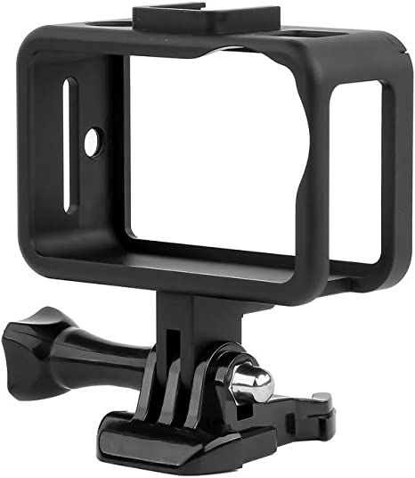 CAOMING Housing Shell CNC Aluminum Alloy Protective Cage with 52mm UV Lens /& Cold-Shoe Base /& Base Adapter for DJI New Action Color : Black Durable Black