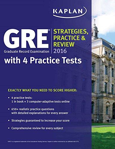 Kaplan GRE Strategies, Practice & Review (2016) [Kaplan]