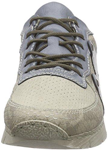 Rieker Damen M2845 Women Low-Top Sneakers Beige (hay/crema/azur / 65)