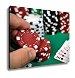 Ashley Canvas Hand Holding Poker Chips, Wall Art Home Decor, Ready to Hang, Color, 16x20, AG6423274