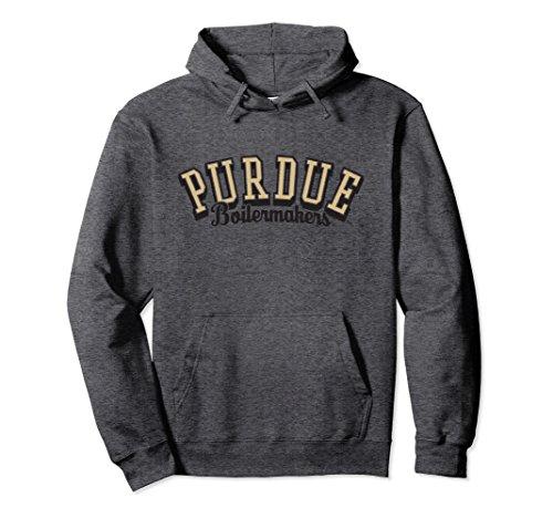 Unisex Purdue University Boilermakers NCAA Hoodie CT3EW01 Medium Dark Heather (Basketball University Purdue)