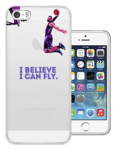 C0714 - I Believe I Can Fly Basket Ball Slam Dunk Sports Design iphone 4 4S Fashion Trend Protecteur Coque Gel Rubber Silicone protection Case Coque