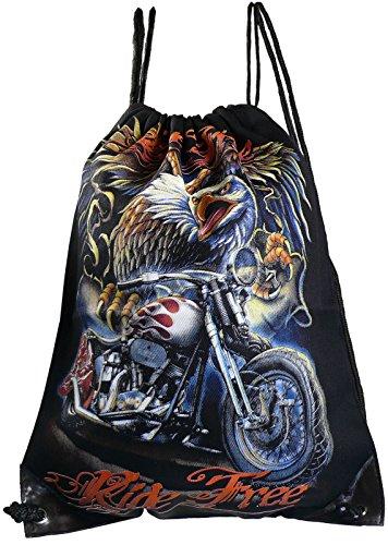 Sporttasche aus Baumwolle mit 2 seitigem Druck, Modell:Löwe Motorad