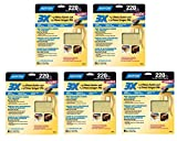 Norton 02616 3X Handy Aluminum-Oxide Sandpaper 220 Grit, 9-Inch x 11-Inch, 15 Sheets Total (5 Pack)