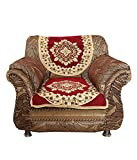 Kuber Industries™ Maroon 5 Seater Cotton Sofa Cover Set -10 Pieces (Exclusive Design)