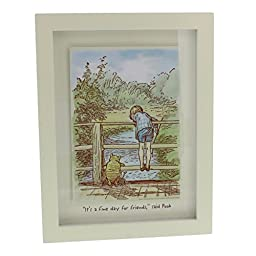 Disney Classic Winnie The Pooh Framed Picture - Fine Day For Friends