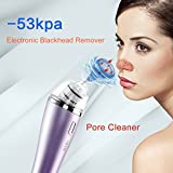 IMATE Electric Strong Suction Facial Pore Cleaner,Nose Blackhead Acne Remover Utilizes Vacuum Extraction Tool Skin Care Tightening Facial Beauty Salon Device Instrument Machine (Purple)