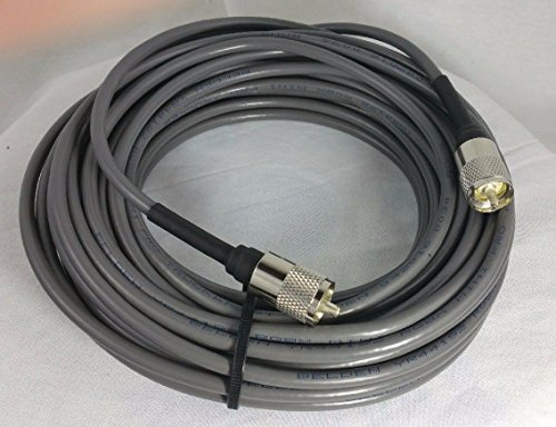 BELDEN Rg8x 97% Shielded Coax Cable with Amphenol PL259 Connectors for Cb / Ham / Scanner Radio 100 Foot USA MADE!!