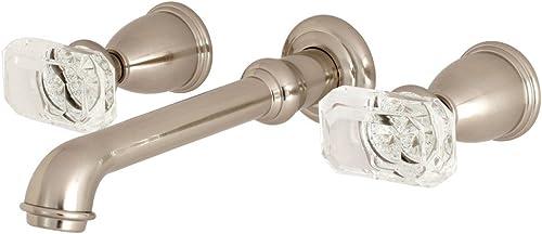 Kingston Brass KS7028KRL Krystal Onyx Roman Tub Filler, 10-7 16 Inch in Spout Reach, Brushed Nickel