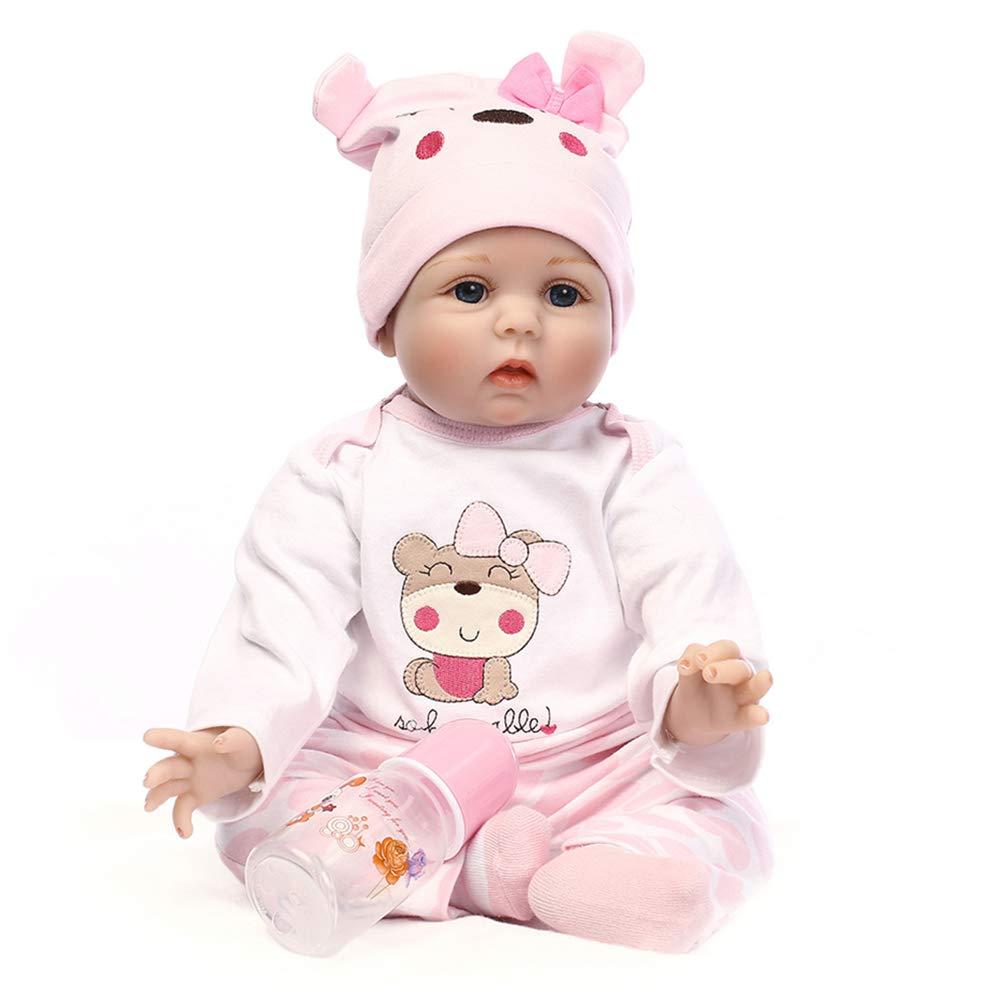 Starall 55 cm Baby Reborn Puppe Silikon Lebensechte Infant Kinder Mädchen Puppe Spielzeug Foto Requisiten