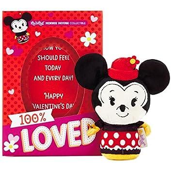 Itty bittys Minnie Mouse Tarjeta del día de San Valentín con peluches