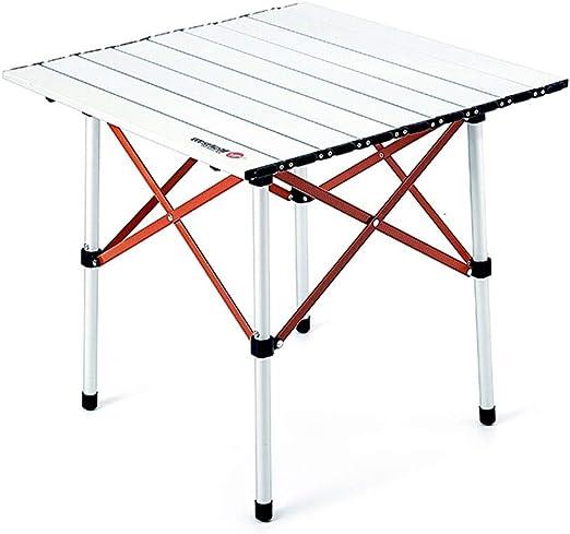 FJZ Mesa Plegable Mesa Plegable de Aluminio para Exteriores Leqi ...