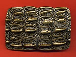 Crocodile Skin effect metal belt buckle