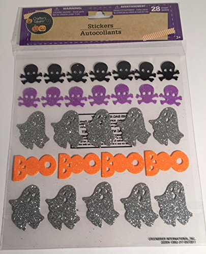 Homemade Halloween Ghost Costumes (Multi Colored Halloween Skeleton Ghosts Boo Stickers (30 Pieces))