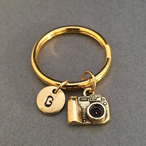 SLR Camera Keychain Digital Camera Keychain Photographer Keychain Photography Keychain Customized Photography Gift Camera Keychain