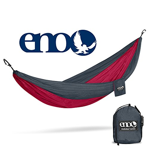 Eagles Nest Outfitters - ENO DoubleNest Hammock, Portable Hammock for Two for Outdoor Camping, Special Edition Colors, Charcoal/Maroon    ()