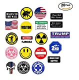 20 sticker SET - VALUE PACK - hard hat, tool box stickers Union gift for working men. Great for construction, lunchbox helmet mechanic and more - funny motorcycle biker car - Made and shipped in USA