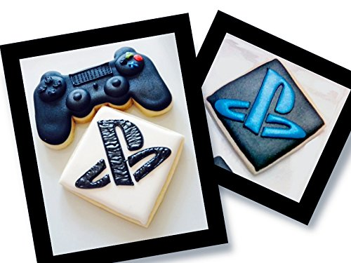 Cookies Decorated Hand (PlayStation Decorated Cookies (12) PS Logo Controller Video Game Party Favors)