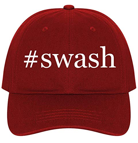 #Swash - A Nice Comfortable Adjustable Hashtag Dad Hat Cap, Red