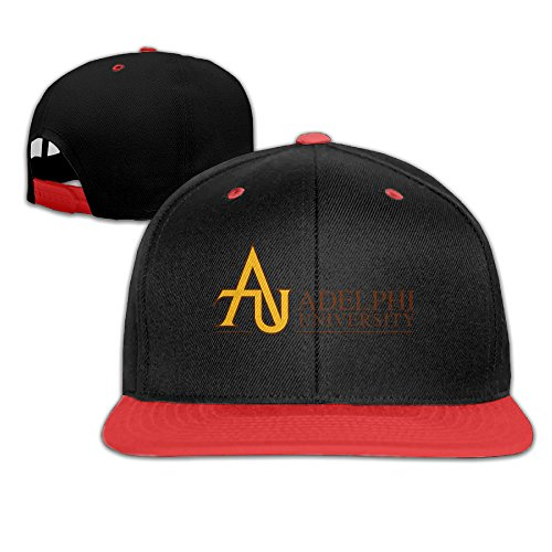 EAUTOP Adelphi University Snapback Hip Hop Baseball Cap Red