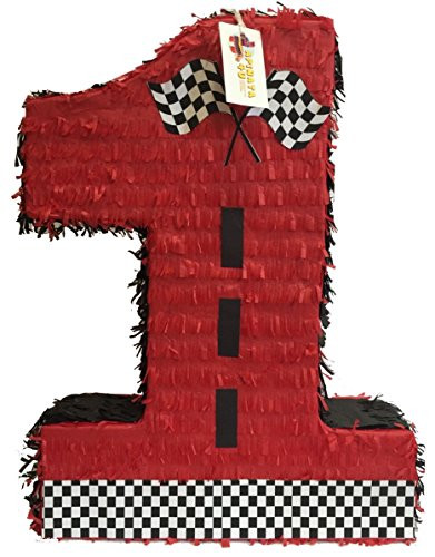 APINATA4U Large Red Number One Racing Theme Pinata (Car Racing Pinata)
