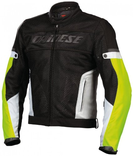Dainese Air-Frame Tex Textile Jacket (Euro 50/ US 40, Black/High-Rise/Fluorescent Yellow)