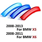 COGEEK ///M Sport Package Car Grille Inserts Styling Front Grill ABS Plastic Trim Strips Sticker Auto For BMW Series (2008-2013 BMW X5 Series & 2008-2011 BMW X6 Series)