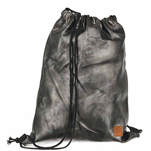 Antonio Fashion Gymbag Shiny Metal Smoke schwarz lGwFFlh