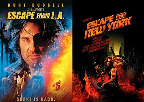Snake Escape Double Feature John Carpenter Escape from New York + Escape from LA Kurt Russell 2 -