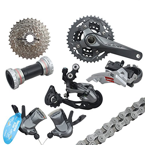 Shimano Groupset Alivio M4000 Mountain Bike Group Set 9-speed 7pcs by YAD