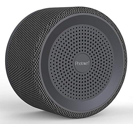 Photron P10 FAB 3W Nordic Fabric Wireless Surround Sound Super Bass Portable Bluetooth Speaker with Mic, Black
