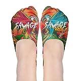 Savage Maverick Logang Polyester Cotton Deodorant 3D Boat Socks Non Slip Socks For Women Girl