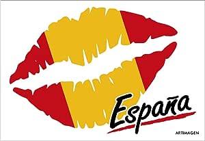 Postal Beso España 16x11 cm.: Amazon.es: Oficina y papelería