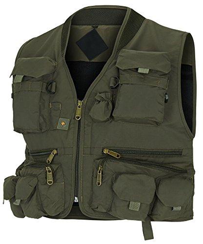 Jagd- und Anglerweste mit vielen praktischen Taschen, superleicht Grün XL