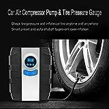 Portable Digital Tire Inflator 150 PSI, Tcisa 12V DC Auto Car Air Compressor Pump with Pressure Gauge
