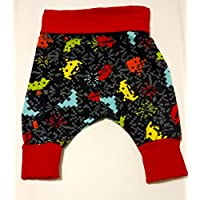 Retro Space Invaders Grow With Me Harem Pants Size 0-6 Months