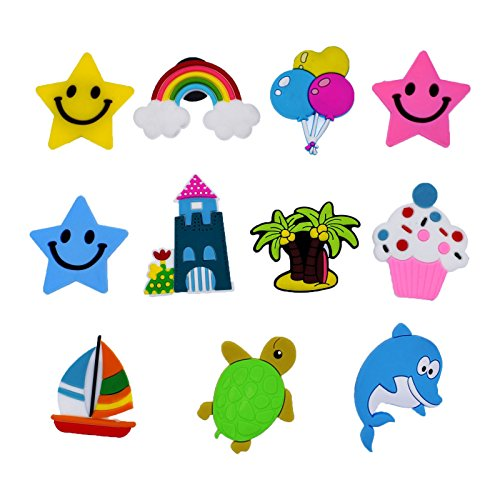 XHAOYEAHX Cute Fridge Magnet Home Kitchen Refrigerator Decorations Stickers 11 Packs of Cute Beach Sailing Turtle Dolphin Refrigerators Magnets Cool Fun Décor for Whiteboard Classroom Kids Toys - Dolphin Magnet