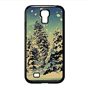 Snowing Watercolor style Cover Samsung Galaxy S4 I9500 Case (Winter Watercolor style Cover Samsung Galaxy S4 I9500 Case) by lolosakes