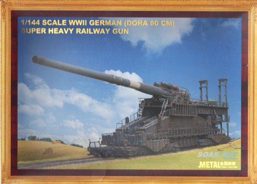 1/144 Scale WWII German Dora 80CM Railway (Railroad Gun)