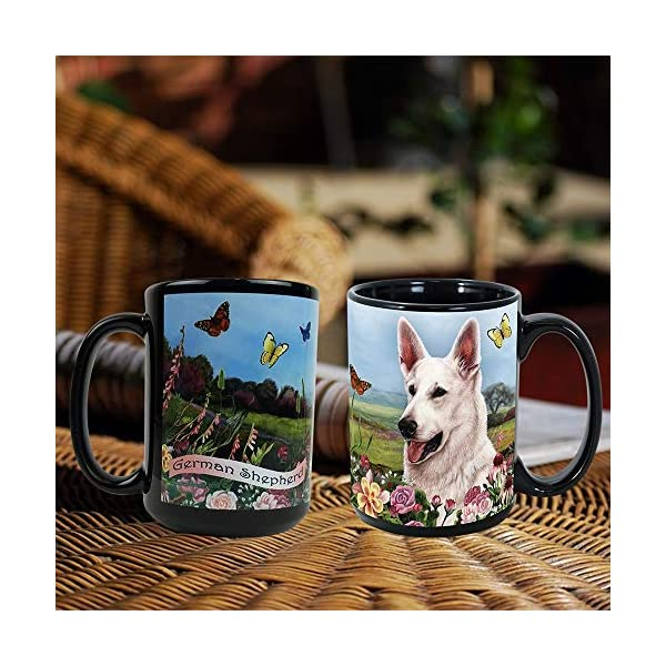 Imprints Plus Dog Breeds (E-P) German Shepherd White 15-oz Coffee Mug Bundle with Non-Negotiable K-Nine Cash (german shepherd white 081) 4