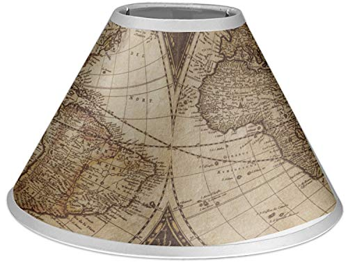 RNK Shops Vintage World Map Coolie Lamp Shade (World Map Lamp Shade)