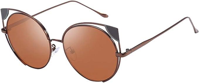 Yying Cat Eye Gafas de sol Mujer Marca Moda Oro Gafas de sol Damas ...