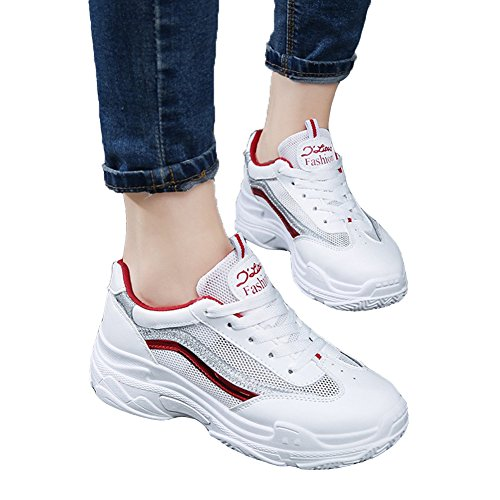 Women's Athletic Shoes Chu Red09 Jogging Fashion Sneakers warm Gym Walking Sport Fitness Running Workout KKLM wwHcETtqZ
