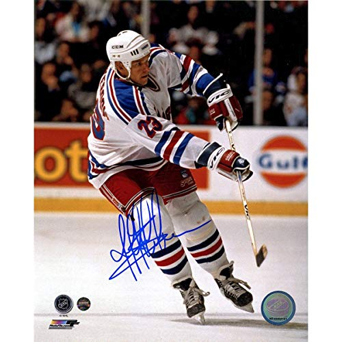 - Jeff Beukeboom Signed White Jersey New York Rangers 8x10 Photo - Steiner Sports Certified - Autographed NHL Photos