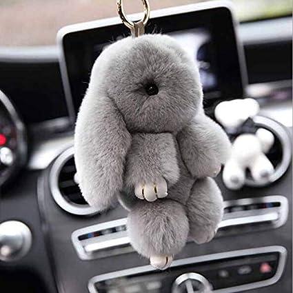 d1f4a0143 URBeauty 14CM Cute Simulation Rabbit Bunny Plush Animal Stuffed Keychains  Car Hanging Decor Rabbit Fur Toy