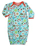 Zutano Baby-girls Newborn Penny Lane Gown, Aqua, 3 Months