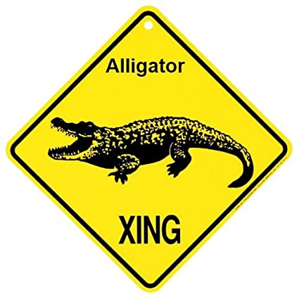 amazon com alligator xing caution crossing sign reptile gift pet