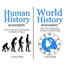 History: 2 in 1 History in 50 Events Box: Human History + World History (World History, History Books, Earth History) (History in 50 Events Series Book 10)