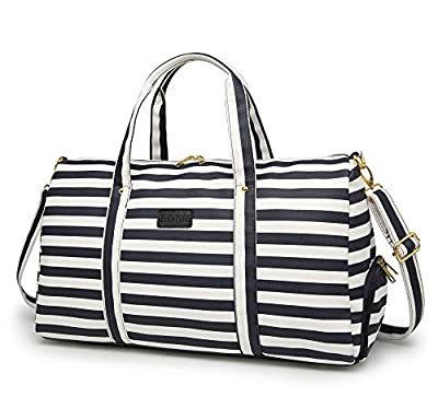 Elenture Weekender Tote Bag Leather Travel Duffel Bag Overnight Carry Bag