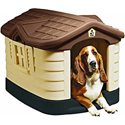 Pet Zone Cozy Cottage Durable Plastic Dog House